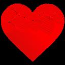 Heart, Swirl Icon