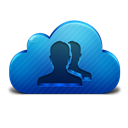Cloud, Contacts Icon