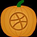 Dribbble, Pumpkin Icon