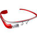 Glass, Google, Red Icon