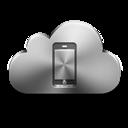 Cloud, Device, Mobile, Silver Icon