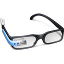 Blue, Glasses, Google Icon
