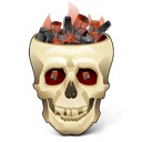 Burning, Skull Icon