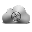 Cloud, Safari, Silver Icon