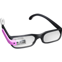 Glasses, Google, Pink Icon
