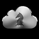 Cloud, Gamecenter, Silver Icon