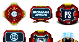 Ironman Style Icons