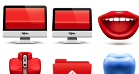 Soda Red Icons