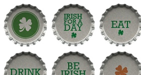 St. Patrick's Day Bottle Cap Icons