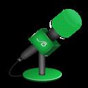 Foam, Green, Mic Icon