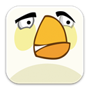 Angry, Birds, White Icon