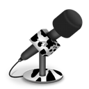 Cow, Foam, Mic Icon