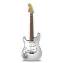 Guitar, Stratocastor, White Icon