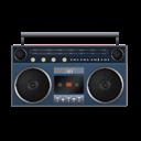 Blue, Boombox Icon