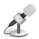 Foam, Mic, White Icon