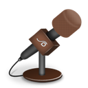 Brown, Foam, Mic Icon