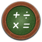 Calculator, Round Icon