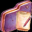 Doc, Folder, Violet Icon