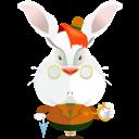 Rabbit, White Icon