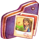 Folder, Pictures, Violet Icon