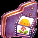 Folder, Video, Violet Icon