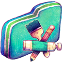 App, Folder, Green Icon