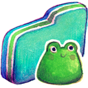Folder, Frog, Green Icon