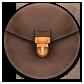 Briefcase, Round Icon