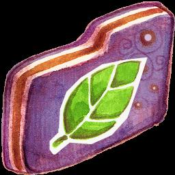 Folder, Leafie, Violet Icon