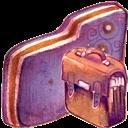 Bag, Folder, Violet Icon