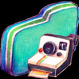 Folder, Green, Photo Icon