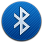 Bluetooth, Round Icon