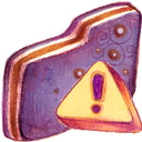 Caution, Folder, Violet Icon