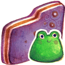 Folder, Froggy, Violet Icon