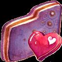 Fav, Folder, Violet Icon