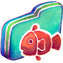 Fishy, Folder, Green Icon