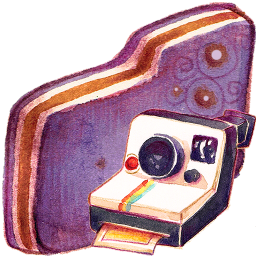 Folder, Photo, Violet Icon