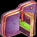Folder, Notebook, Violet Icon