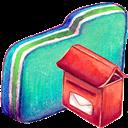 Folder, Green, Mailbox Icon