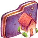Folder, Home, Violet Icon
