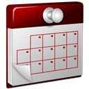 3d, Calendar, Red Icon
