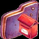Folder, Mailbox, Violet Icon