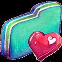 Fav, Folder, Green Icon