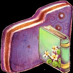Book, Folder, Violet Icon