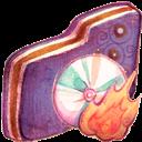 Burn, Folder, Violet Icon