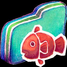 Fishy, Folder, Green Icon