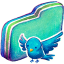 Birdie, Folder, Green Icon
