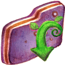 Download, Folder, Violet Icon