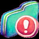 Folder, Green, Important Icon