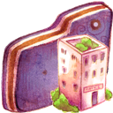 Folder, Office, Violet Icon